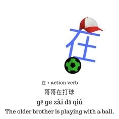 The Different Uses of 在 zai in Chinese Chinese Sentences, Chinese Phrases, Chinese Words, Mandarin Lessons, Mandarin Language, Chinese Lessons, Action Verbs, Simple Sentences, Sentence Structure