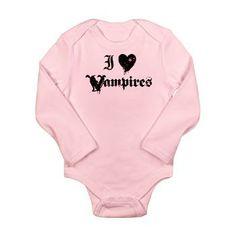 I Love Vampires Long Sleeve Infant Bodysuit