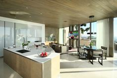 Collingwood Residence Kitchen with Breakfast Area http://www.landrydesigngroup.com/#/portfolio/modern/1312