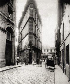 Paris 2e - Coin de la rue Saint-Spire et de la rue Sainte-Foy - Eugène Atget 1907