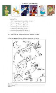 English worksheet: Peter Pan in Never Land