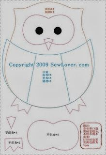 Almofadas patchwork feltro Ideas for 2019 Diy Sewing Projects, Sewing Crafts, Craft Projects, Sewing Diy, Owl Patterns, Sewing Patterns, Owl Sewing, Owl Pillow, Felt Owls