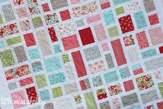 Ruby Pearl & Opal Quilt by Little Miss Shabby using Moda's Ruby line of fabric by Bonnie and Camille.