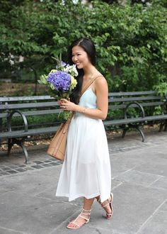 Mint Cami & White Mesh Skirt