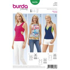Burda Style Pattern 6656 Misses' Shirt