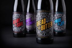Illustrated packaging design by Robot Food for British craft beer microbrewery Vocation.