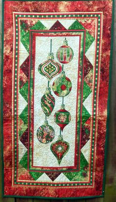 Christmas Table Runner  Wall Hanging by PatchworkByPaula on Etsy