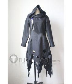 Mirai Nikki Yuno Gasai God Black/Grey Cloak Cosplay Costume