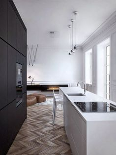 'Minimal Interior Design Inspiration' is a biweekly showcase of some of the most perfectly minimal interior design examples that we've found around the web - Interior Design Examples, Interior Design Kitchen, Interior Modern, Interior Design Inspiration, Interior Architecture, Scandinavian Interior, Luxury Interior, Luxury Decor, Black Architecture