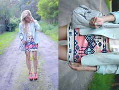 This Aztec pastel skirt is fabulous!