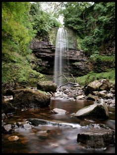 "The Real Life Batcave Waterfall. ""It turns out the waterfall hiding the Batcave isn't really in Gotham, it's in South Wales. It's called Sgwd Henrhyd, and even though there isn't a real Batcave behind it (they filmed parts of ""The Dark Knight Rises"" here), it's pretty breathtaking."""