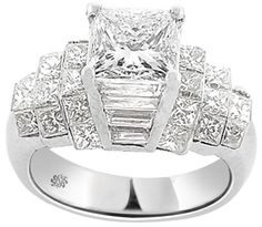 LOVE THIS...3.55 Carat Hadley Diamond 18Kt White Gold Engagement Ring