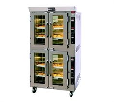 Impressive gas convection oven that can take as much as 12 pans at once.