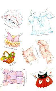 Paper Dolls: Muppet Babies. Miss Piggy Outfits
