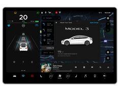 Tesla Model 3 UI