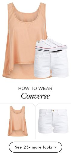 """""""Untitled #2681"""" by laurenatria11 on Polyvore featuring Noisy May, Frame and Converse"""