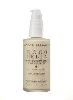 Ecco Bella Age Antidote Facial Day Cream with Vitamin E & C for Sensitive Skin, UVA & UVB Chemical-Free Ecco Shield, Repairs Sun Damage - 2 fl. oz.
