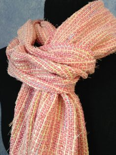 Chanel Pink Handwoven Scarf by BelleEstoile on Etsy, $60.00