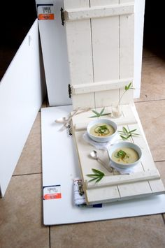 Basic setup in the natural light for Edamame Soybean Soup | White on Rice Couple