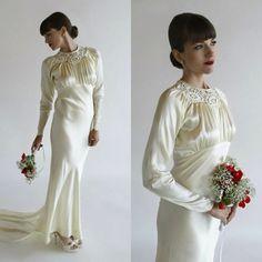 A vintage inspired wedding dress
