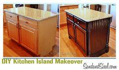 kitchen island redo