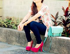 chunky heels and color