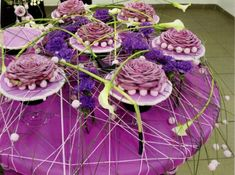 Purple rose glamelias via The International School of Floral Design