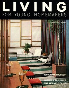 live high on a budget, 1950s magazine ~ via Ruth & @No Pattern Required