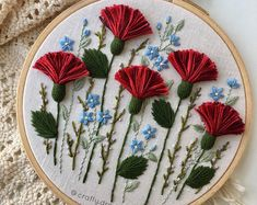 Be kind hoop embroidery, Thistle flower embroidery, Floral embroidered hoop Hand Embroidery Videos, Embroidery Stitches Tutorial, Embroidery On Clothes, Embroidery Flowers Pattern, Learn Embroidery, Hand Embroidery Patterns, Embroidery Kits, Beaded Embroidery, Indian Embroidery