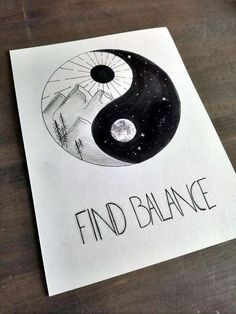 Drawing of the yin yang symbol. This artwork is unique: NO copies are made. This drawing of the yin yang symbol is hand. Doodle Art Drawing, Cool Art Drawings, Pencil Art Drawings, Art Drawings Sketches, Easy Drawings, Drawing Ideas, Spiritual Drawings, Yin Yang Art, Yin And Yang