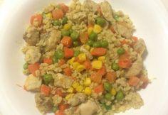 Bulguros-currys-zöldséges csirke
