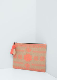 Jute cotton-blend bag -  Women | MANGO USA