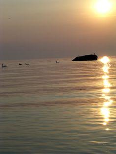 Yvoire : Lever de soleil. Les cygnes sont déjà en promenade. Yvoire, Beaux Villages, France, Celestial, Sunset, Outdoor, Lake Geneva, Sunrise, Floral