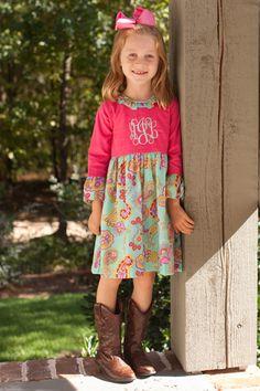Bright Paisley Bell Sleeve Dress