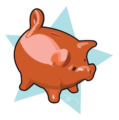 stickers-chanchito Chile, Piggy Bank, Kawaii, Patriotic Symbols, September, Caricatures, School, Fiestas, Display