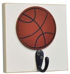 #DiaperscomNursery  Homeworks Etc Basketball Single Wall Hook - Orange - Best Price