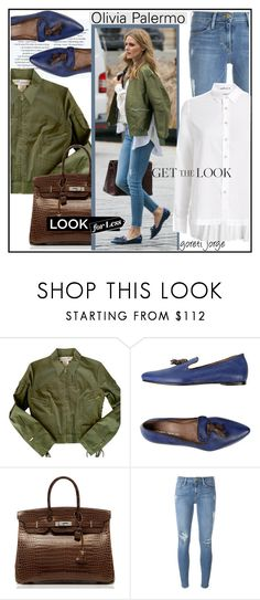"""""""Olivia Palermo- Look for less"""" by goreti ❤ liked on Polyvore featuring Christian Dior, Leonardo Principi, Hermès, Frame, Le Sarte Pettegole, GetTheLook, LookForLess and CelebrityStyle"""