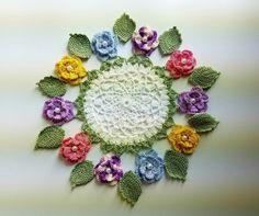 Hermosos Colores Pastel Rosas Flores Hecho A Mano Crochet Estilo Irlandés ~ nuevo ~   Artesanías, Piezas de artesanía y acabadas, Arte y manualidades con agujas   eBay!