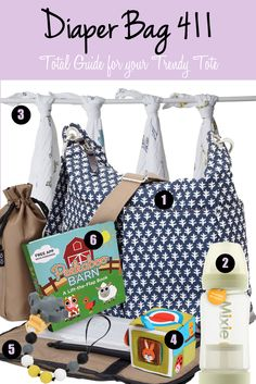 Diaper Bag 411--The 5 Essentials to Tote Around with Baby