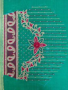 Hand Work Blouse Design, Simple Blouse Designs, Blouse Designs Silk, Designer Blouse Patterns, Bridal Blouse Designs, Hand Designs, Flower Designs, Traditional Blouse Designs, Hand Embroidery Design Patterns