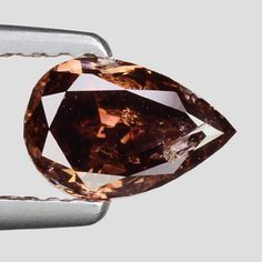 RARE COLOR ! 0.57 Ct.Pear Natural Dark Wine Loose Diamond for Ring Jewelry #FANCYKINGGROUP