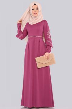 ELBİSE Etamin Nakışlı Elbise 537L263 Gül Kurusu Hijab Fashion Summer, Fashion Wear, Dresses With Sleeves, Long Sleeve, How To Wear, Muslim Women, Sleeve Dresses, Long Dress Patterns, Gowns With Sleeves