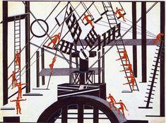 "aleksandra-ekster: ""Satanic Ballet, 1922, Aleksandra Ekster """