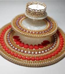 Buy Diwali Diyas diwali-decoration online tumi candles for diwali Arti Thali Decoration, Thali Decoration Ideas, Ganapati Decoration, Decoration For Ganpati, Kalash Decoration, Diwali Decoration Lights, Diwali Lights, Festival Decorations, Diwali Diya