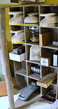 Craft Organization you won't want to miss... creative and repurposed ideas www.homeroad.net