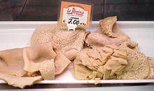 Tripe (from French tripe which is from Italian trippa) is a type of edible offal from the stomachs of various farm animals.[1][2]