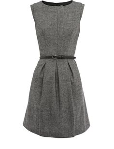 OASIS TWEED FIT AND FLARE DRESS