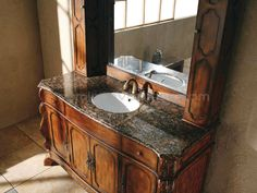 Bathroom Vanities And Cabinets | Bathroom Vanity with Hutch Mirror - Free Shipping!