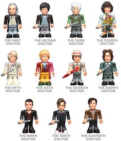 Doctor Who Mini Figure Set of 11 Doctors $39.99