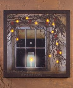 'Home Is The Starting Place' Lighted Wrapped Canvas by Ohio Wholesale, Inc. #zulily #zulilyfinds